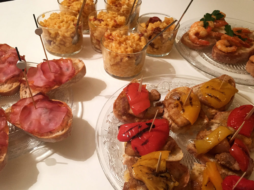 food tapas life is a voyage